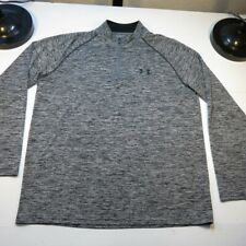 Under Armour Heat Gear Loose 1/4 Zip Athletic Pullover Jersey Shirt Sz Mens L