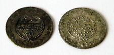 OTTOMAN TURKEY SILVER 2 pcs. 20 para-COINS MAHMUT II 1223-1255  # 73B
