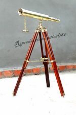 Vintage Handmade Marine Telescope Nautical Spy Glass Telescope With Stand Decor