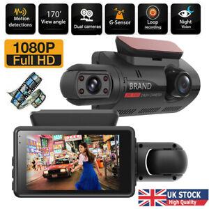 1080P Dual Lens Car DVR Front and Rear Camera Video Dash Cam Recorder G Sensor