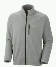Columbia Jacket Fast Trek II Fleece Full Zip Front & Pockets Gray Men's Size M