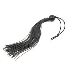 Accessoire érotique adultes: fouet martinet fines lanières noires élastiques