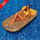Inflatable Floating Raft Tub Swimming Pool Giant Lake River Relax Drink Holder