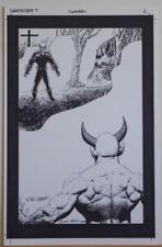RICHARD CORBEN original art, GHOST RIDER #7 pg 2, Signed, vs SATAN, Splash page