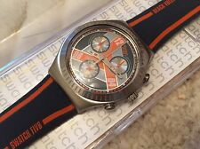"NEW SWATCH IRONY CHRONO FIVB SPECIAL ""MONSTER BLOCK"" YCS110 WATCH MENS/BOYS"