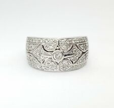 Ladies Dress Ring 18ct (750, 18K) White Gold 0.55ct Natural Diamond Ring