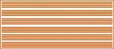 1/16 INCH (.0625) VINYL PEEL STICK HO SCALE STRIPES STRIPE ORANGE DECALS