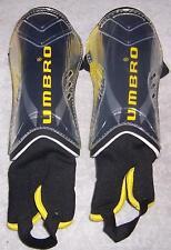 Umbro Technofit Soccer Shinguards Black/Gold/Silver Size Medium