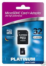 Platinum Class 10 Micro-SDHC Karte 32GB Speicherkarte inkl. SD Adapter 177332