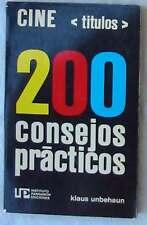 CINE (TITULOS) - 200 CONSEJOS PRÁCTICOS - VARIOS AUTORES - PARRAMÓN 1976 - VER