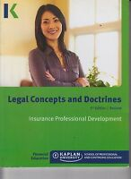 Legal Concepts and Doctrines 2nd Ed Rev Insurance Professional Development E1-77