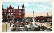B49/ Anderson South Carolina SC Postcard c1915 The Plaza Court House Square