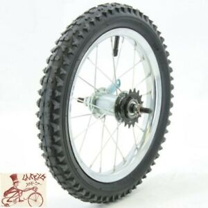 """OEM COASTER BRAKE 16""""  CHROME STEEL BICYCLE REAR WHEEL WITH TIRE AND TUBE"""
