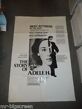 THE STORY OF ADELE H. - ORIGINAL TRI-FOLDED POSTER - 1975 - ADJANI/TRUFFAUT