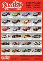 Quartzo Die Cast 1/43 Prospekt Modellautos 1990er Autoprospekt model cars esite