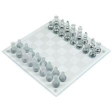 Trademark Games Deluxe Glass Chess Set - 13.5 x 13.5 Inches