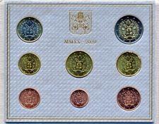 Vatikan Euro-KMS 2020 BU 8 Münzen 3,88 €, 1 Cent - 2 €, sofort lieferbar!