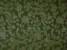 Seidenstoff Drachenmuster grün 115 cm breit Meterware