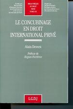 Le concubinage en droit international privé