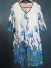 La Cera Women's Small Beautiful Blue Tulips Dress