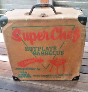 VINTAGE RETRO 50's 60's 'Super Chef' MINI portable BBQ VW Kombi