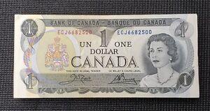 1973 Canada Crow Bouey BC-46b $1.00 Banknote Bundle Of 100 Consecutive