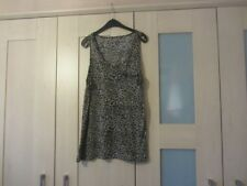 Women's cotton blend (?)sleeveless vest top. Animal print Size 16.