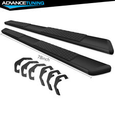 Fits 07-18 Chevy Silverado Double Cab 78inch OE Style Step Bars Running Boards