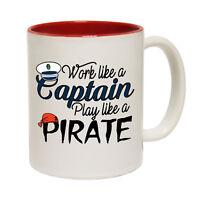 Funny Coffee Mug Novelty Birthday Gift Work Captain Play Pirate