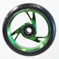 Scooter Wheel -  Alloy Metal Core - 125mm - ABEC 9 -  Anodised GREEN