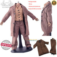 "1:6 WWII Common People Civilians Wool Greatcoat Suit Brown for 12"" Action Figure"