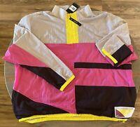 Mens Nike Flight Basketball Jacket 1/2 Zip Pink CN8508-623 NWT $100 Sz 3XL