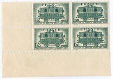 1944 - Bloc 4 Timbres - France-Neuf** Service Postal Ambulant - Stamp.Yv.609