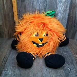 "Hairy Fury Halloween Jack o'lantern Pumpkin Stuffed Animal 17"""