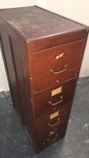 Vintage • Antique Wood Filing Cabinet W/ Wood Sleeves