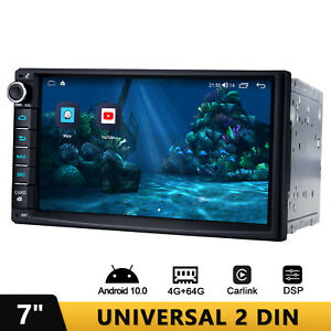 7 Inch New UI Android 10 Universal 2 Din Car Stereo Built-in Apple CarPlay DSP