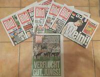 """6x BILD Zeitung """"DER WEG DEUTSCHLANDS INS HALBFINALE"""" - Europameisterschaft 2016"""