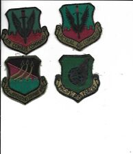 4 DIFF AIR PATCHES,554th OSW,TACTICAL AIR COMMAND, AIR COMB CMD, PACIFIC AF