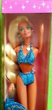 Very Rare Mattel Sparkle Beach Barbie (long twisted hair model) 1995 with Box