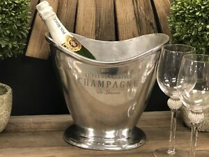 Two bottle Champagne Ice Bath Large Aluminium Cooler Wine coolers ice bucket