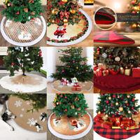 Christmas Tree Long Snow Plush Skirt Base Floor Mat Cover Xmas Party Decor