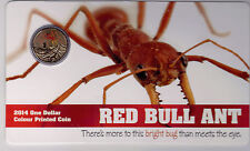 2014 $1 Colour Printed Coin - Red Bull Ant