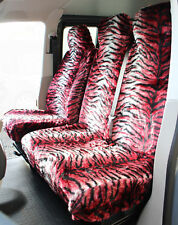 VW Transporter T4 T5 T6 RED TIGER Faux FUR VAN Seat COVERS - Single + Double