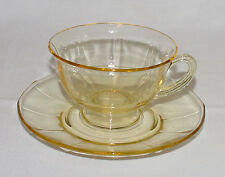 "PERFECT Vintage Yellow Fostoria ""FAIRFAX"" Cup & Saucer - 6 Available!!"