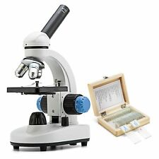 SWIFT 40X-1000X Student Biological Compound Monocular Microscope +25Pcs Slides