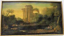 Antique 18th century Oil Painting Landscape After CLAUDE GELLEE LE LORRAIN