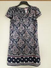 Next paisley spot polka dot dress tunic navy blue size 12  Free P&P