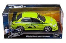 Jada 1:24 Fast & Furious Brian's Mitsubishi Lancer Evolution VII Diecast 99788