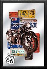 Barspiegel Route 66 Autoschilder, 20 x 30 cm Retro, Nostalgie, Werbung
