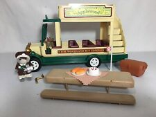 Calico critters/sylvanian families Double Decker Bus W Driver & Accessories